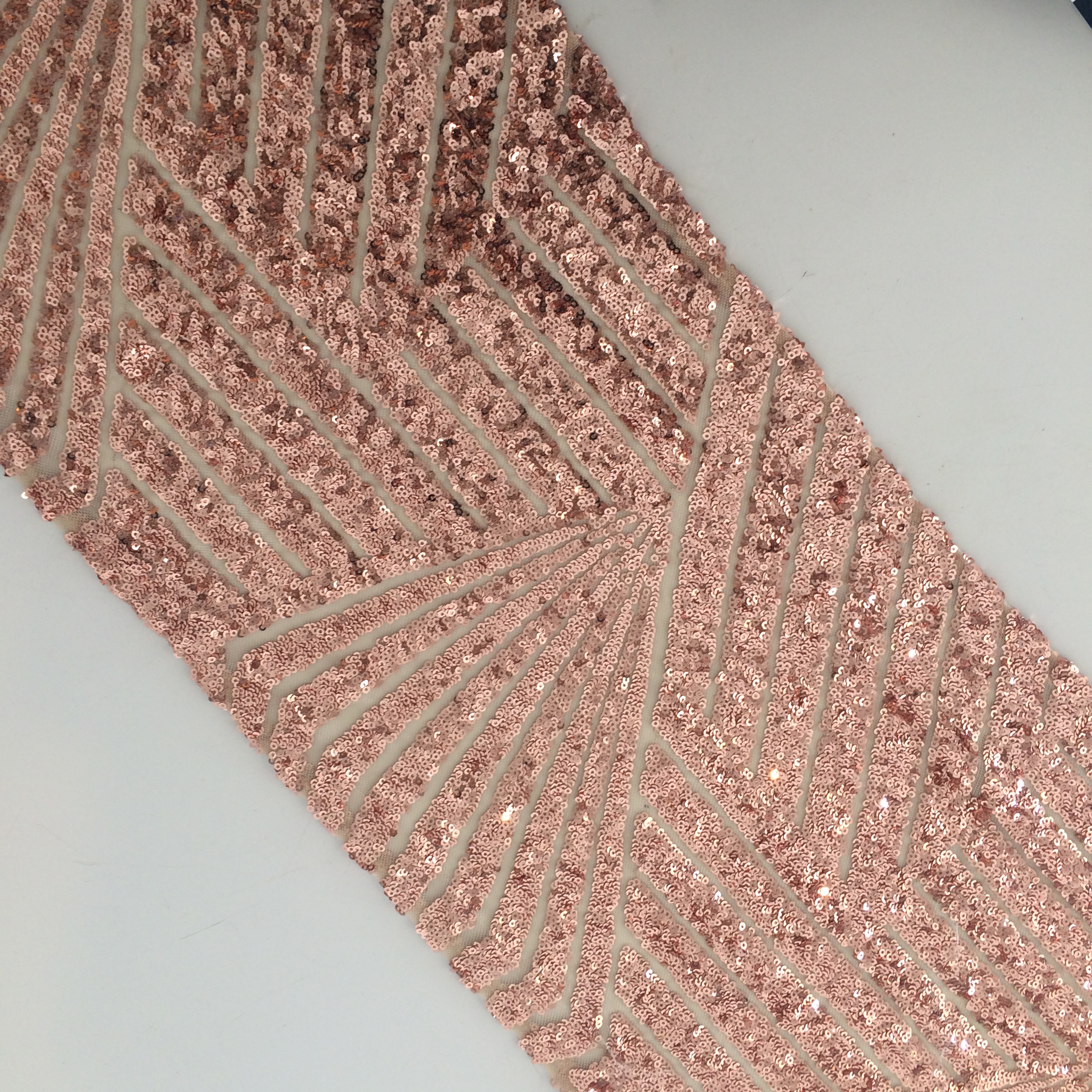 Brand-new Sequin Table Runner - Art Deco Rose Gold | The Pretty Prop Shop  ZW82