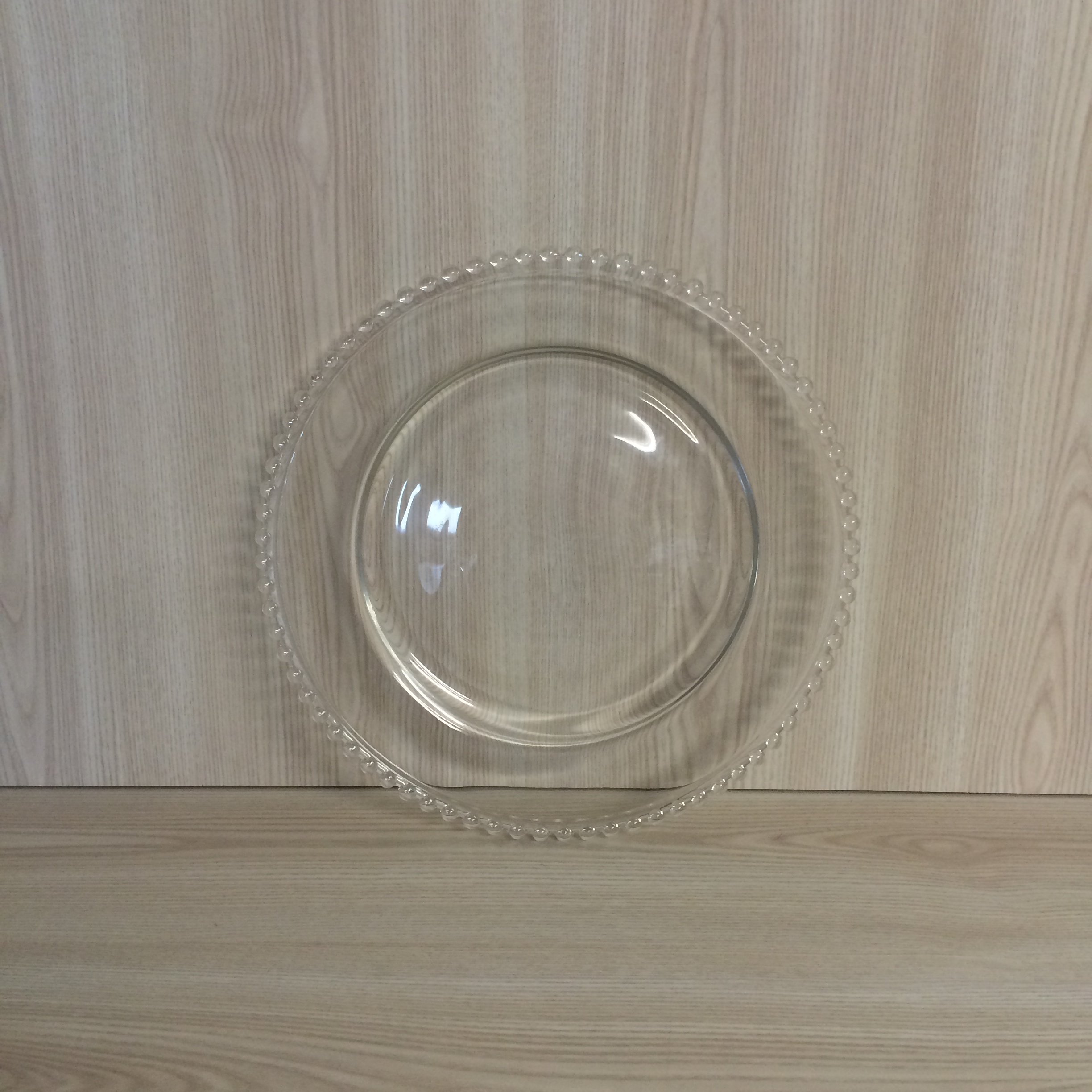 Beaded Charger Plate Clear The Pretty Prop Shop Wedding And Event Hire